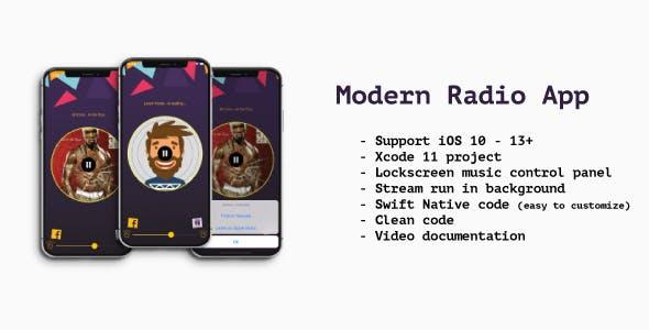 Modern Radio App iOS (Swift)