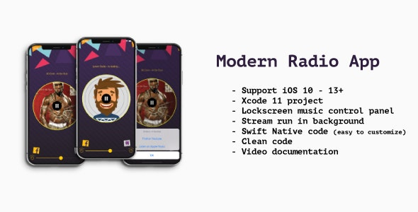 Modern Radio App iOS (Swift) - CodeCanyon Item for Sale