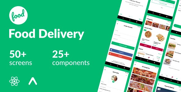 Food Delivery - React Native Template