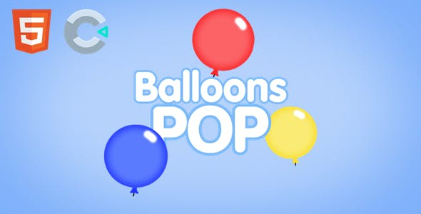 Balloons POP - HTML5 Game (Construct 3 / c3p)
