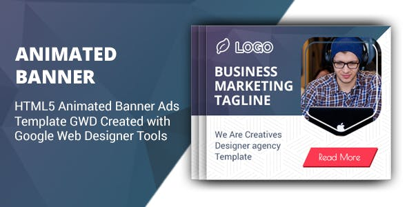 HTML5 Animated Banner Ads Template GWD V1