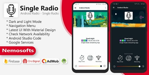 Android Radio - Single Radio Streaming App - CodeCanyon Item for Sale