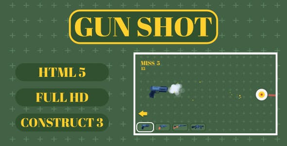 Gun Shot - HTML5 Game (Construct3)