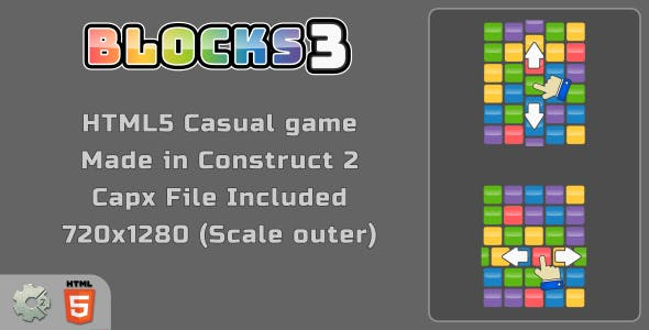 Blocks3 - HTML5 Match3 game