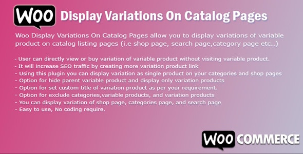 WooCommerce Display Variations On Catalog Pages - CodeCanyon Item for Sale