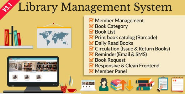 Library Management System Php Scripts From Codecanyon