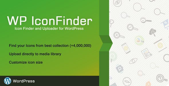 WP IconFinder - Find free icons for WordPress