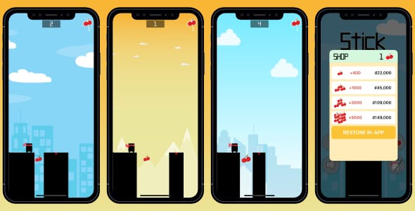 Stick Hero - Swift 5 + Ads