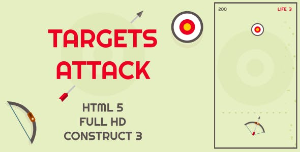 Targets Attack - HTML5 Game (Construct3)