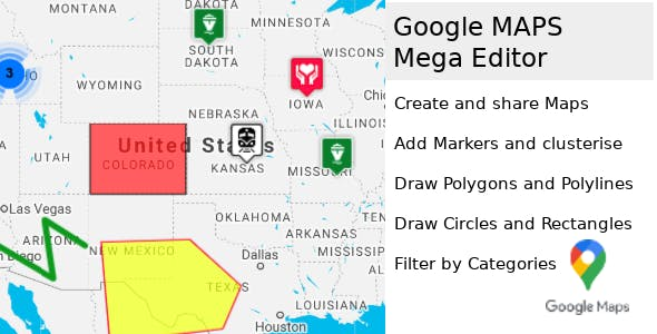 Google Maps Multi-Purpose Mega Editor php script v1.1.1