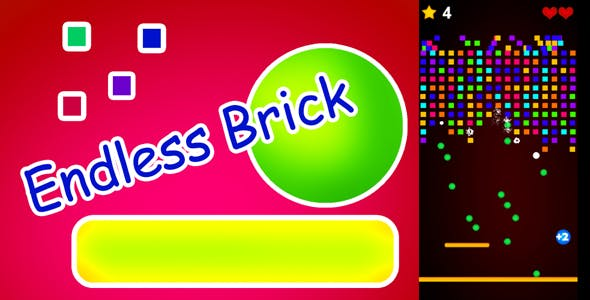 Endless Brick HTML5 Game (construct2)