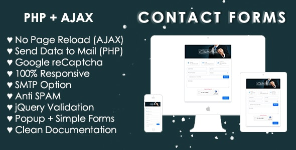 Bootstrap 4 Contact Form (AJAX+PHP) - CodeCanyon Item for Sale