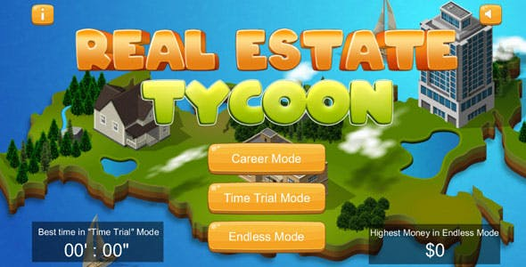 Real Estate Tycoon - City Sim Time Management HTML5 Game (Construct2)