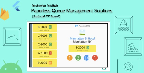 Paperless Queue Management Solutions - TV Board - CodeCanyon Item for Sale