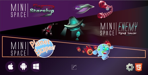 Mini Space Series First Three Games • HTML5 + C2 Games - CodeCanyon Item for Sale