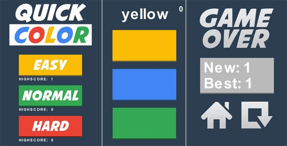 Quick color - HTML5 Casual Game - CodeCanyon Item for Sale