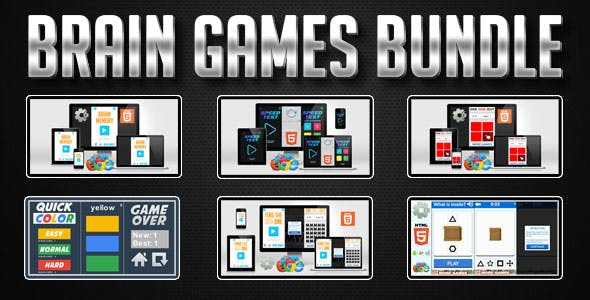 Premium HTML5 Games Bundle - 6 Brain Games