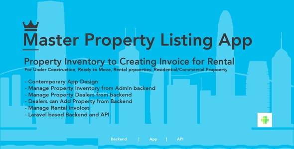 Property Listing - Android app with admin panel