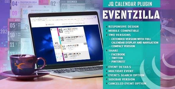 EventZilla - Event Calendar jQuery Plugin