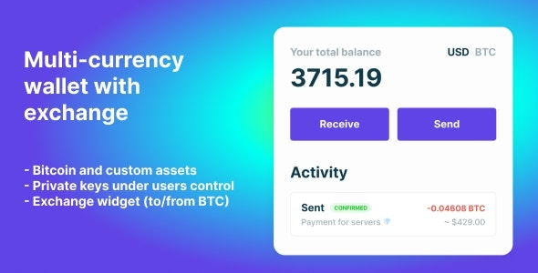 Bitcoin, Ethereum, ERC20 crypto wallets with exchange v1.1.657