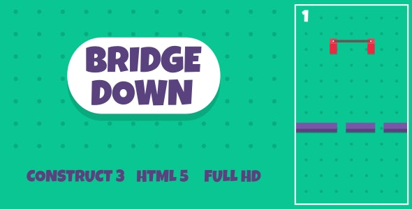 Bridge Down - HTML5 Game (Construct3) - CodeCanyon Item for Sale