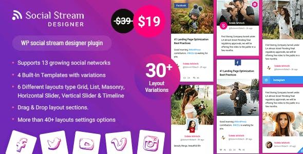 WP Social Stream Designer
