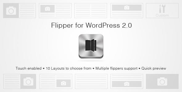 WordPress Flipper 2.0: Flipbook style slider!
