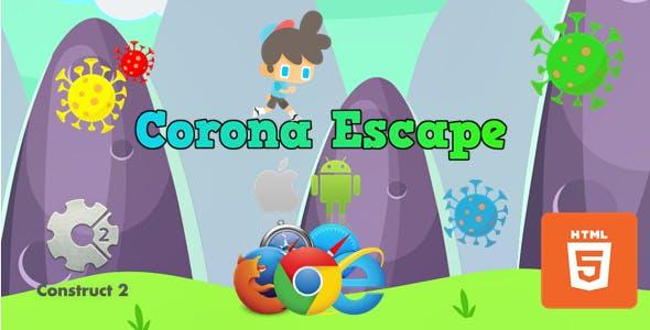 Corona Escape - HTML5 Casual Game (.Capx)