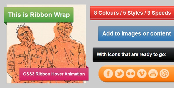 Ribbon Wrap - CSS3 Hover Animation - CodeCanyon Item for Sale
