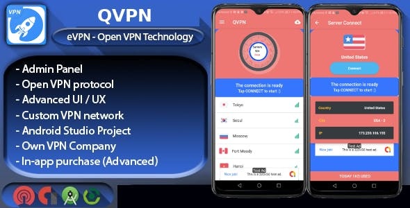 QVPN - Pro Custom VPN with Admin Panel