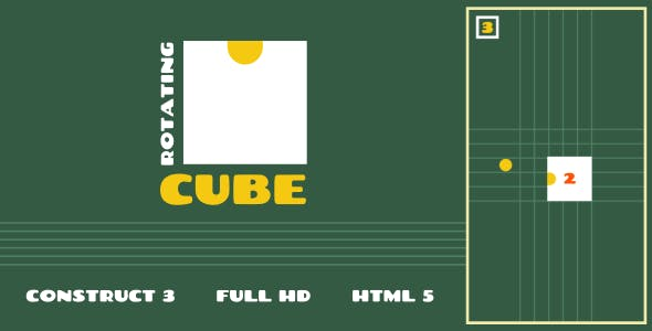 Rotating Cube - HTML5 Game (Construct3)