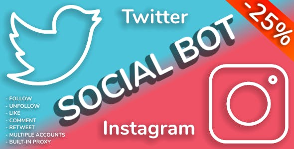 Social Bot - Instagram and Twitter Bot