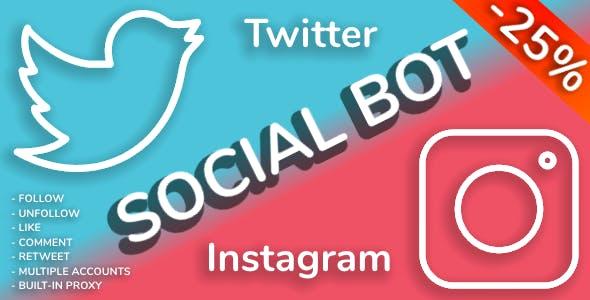 Social Bot - Instagram and Twitter Bot