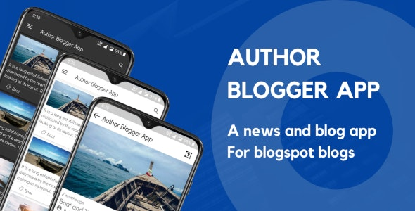 Author Blogger App - CodeCanyon Item for Sale