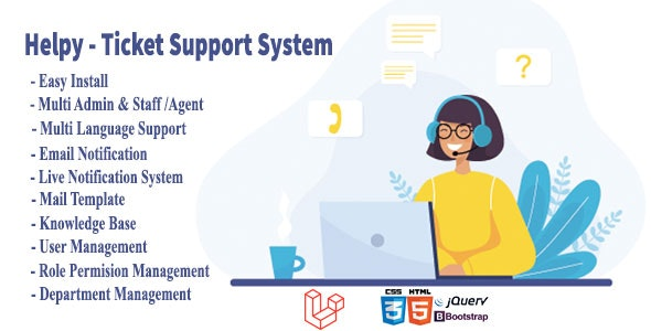 Helpy - Knowledge Base Ultimate Ticket Support System - CodeCanyon Item for Sale