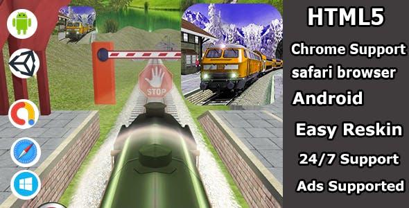 Metro train simulator arcade HTML5 game source code