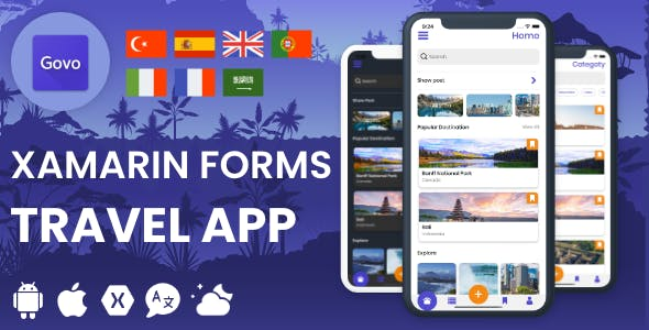 Govo Travel - Mobile Xamarin Forms Travel App (Android & iOS)