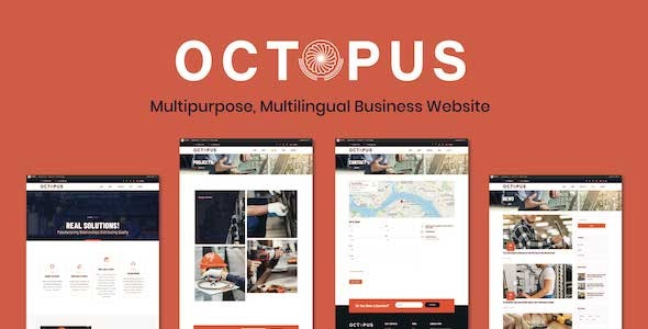 Octopus - Multi-purpose, Multilingual Business Website