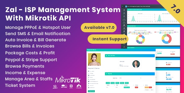 Zal - ISP Management System With Mikrotik API - CodeCanyon Item for Sale
