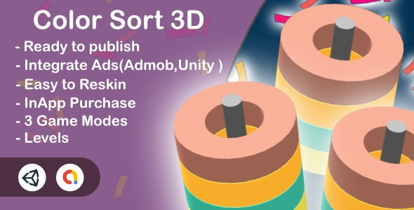Color Sort 3D (Unity Complete+Admob+Android+iOS) - CodeCanyon Item for Sale