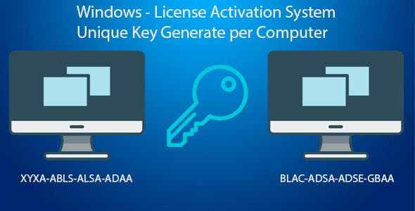 Key Generator - Per Computer License Activation System
