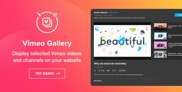 Vimeo Gallery - WordPress Vimeo plugin