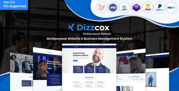 Dizzcox - Multipurpose Website  & Business Management System CMS