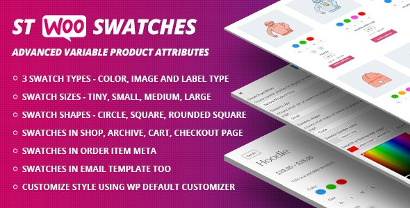 WooCommerce Swatches ( Color, Image and Label Swatch ) - CodeCanyon Item for Sale