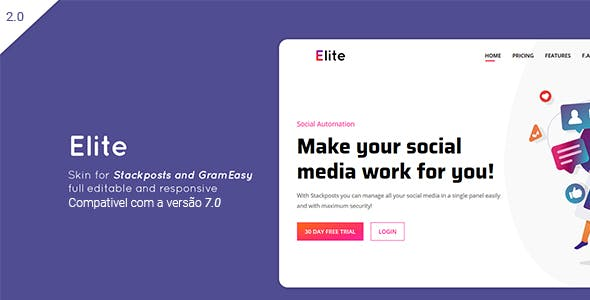 Elite – Theme for Stackposts and GramEasy