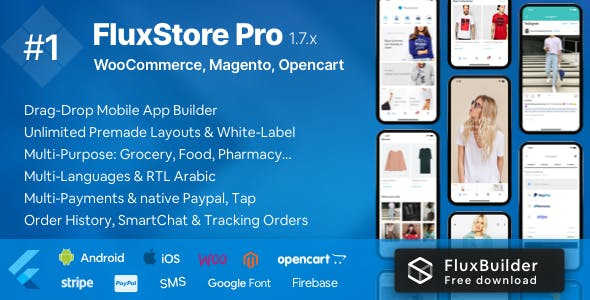 Fluxstore Pro - Flutter E-commerce Full App for Magento, Opencart, and Woocommerce