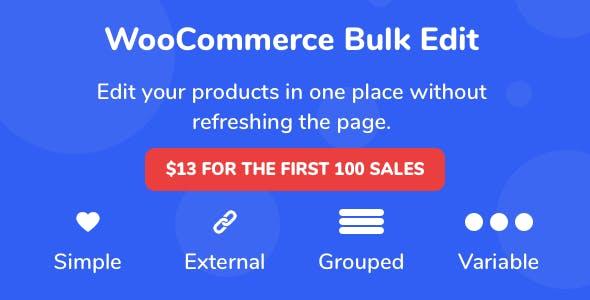 WooCommerce Bulk Product Edit