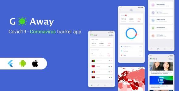 Flutter Coronavirus Tracker App - Go Away