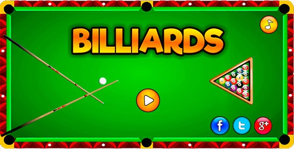 Billiards - HTML5  Sport Game Mobile and Desktop - CodeCanyon Item for Sale