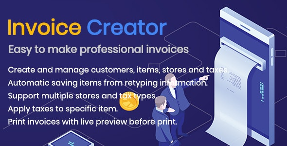 Invoice Creator -Easy to Generate invoices, manage customers, items and more - CodeCanyon Item for Sale